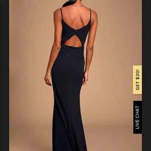 Lulus Moments of Bliss XS Black Maxi Dress